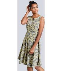 jurk alba moda donkergrijs::geel::lichtgrijs