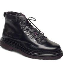 beaumont mid lace boot snörade stövlar svart gant