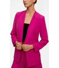 mango women's structured blazer without lapels