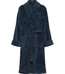 premium velour robe morgonrock badrock blå gant