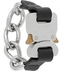 1017 alyx 9sm buckle detail chain bracelet - black