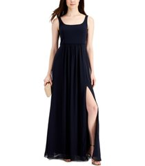 adrianna papell square-neck gown