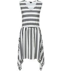 abito in maglina con fondo asimmetrico (bianco) - bodyflirt