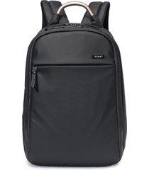 """mochila notebook 17"""""""" travel zoomp poliéster alça de mão alumínio resistente preta"""