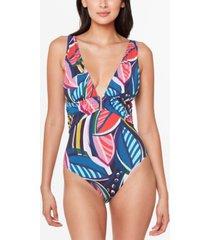 bleu by rod beattie absolutely fabulous plunge-neck one-piece swimsuit women's swimsuit
