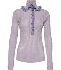 shirt sweater gebreide trui paars hope
