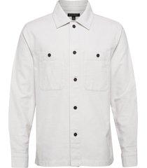 slim-fit flannel shirt jacket tunn jacka vit banana republic