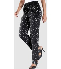 broek m. collection zwart::wit