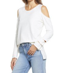 women's vince camuto cold shoulder sweatshirt