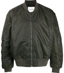daily paper loose fit round neck bomber jacket - green