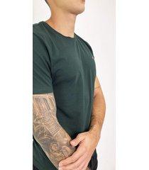 camiseta básica verde para hombre delascar - tsb01