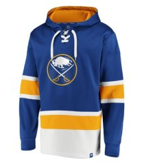 majestic buffalo sabres men's power play lace up hoodie