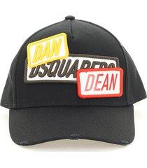 dsquared2 d2 patch baseball cap
