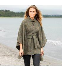 hourihan green belted tweed cape