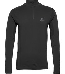explore seamless half zip m sweat-shirt trui zwart salomon