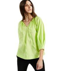 alfani split-neck balloon-sleeve top, created for macy's