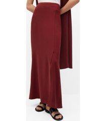 mango women's slit long skirt