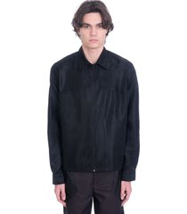 marine serre casual jacket in black polyester