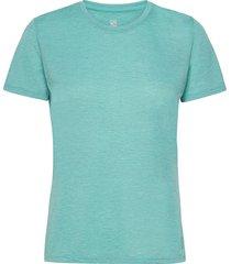 comet classic tee w heather t-shirts & tops short-sleeved blå salomon