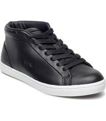 straightset chu 3161 höga sneakers svart lacoste shoes
