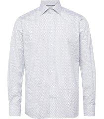 floral poplin shirt - contemporary fit skjorta business vit eton