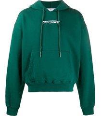 off-white hand painters hoodie - green