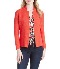 women's nic+zoe morning dew jacket, size large - red