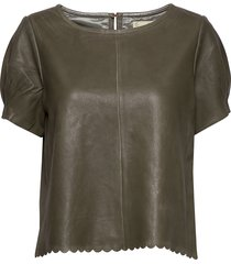 the leather t-shirt t-shirts & tops short-sleeved grön odd molly