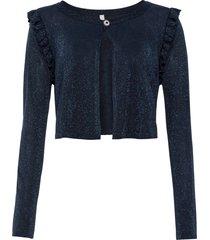 bolero in maglia glitterata (blu) - bodyflirt boutique