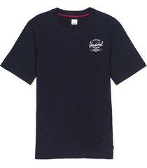 t-shirt korte mouw herschel t-shirt classic logo black/white