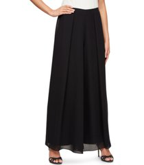 alex evenings wide-leg flyaway pants
