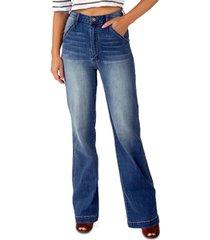indigo rein juniors' high-rise wide-leg jeans