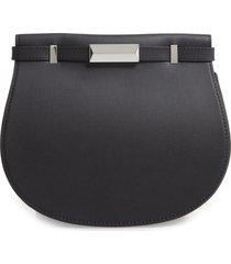 boss nathalie leather shoulder bag - black
