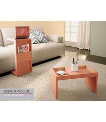 mesa de apoio book com suporte ceramic - líder design