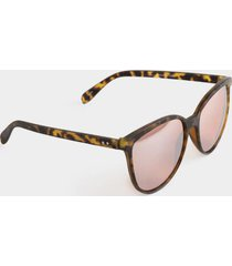 aria matte cat eye sunglasses - tortoise