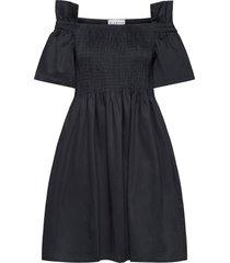 ciola smock dress kort klänning svart blanche