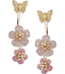 eye candy la women's luxe 18k goldplated & crystal dangle drop earrings