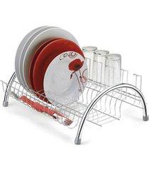 escorredor de pratos arthi fantastic em aço cromado