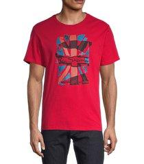 ben sherman men's logo flag-print cotton t-shirt - blue depth - size m