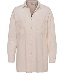 byfie yd stripe shirt - långärmad skjorta creme b.young