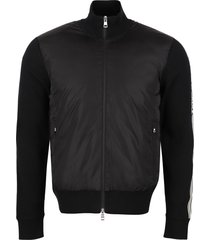 moncler cardigan with padded front panel