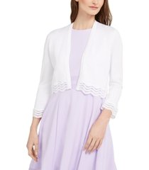 calvin klein scallop-trim shrug