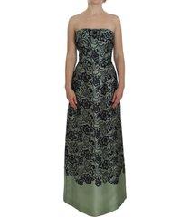 floral lace silk corset maxi jurk