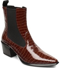 betsy shoes boots ankle boots ankle boots with heel brun vagabond