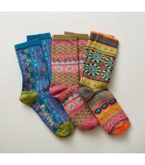 floral kaleidoscope socks