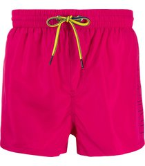 diesel logo swim shorts - pink