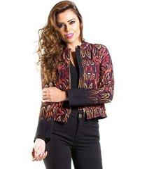 jaqueta estampada feminina