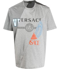 grey distorted logo t-shirt