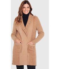 abrigo wados camel - calce regular