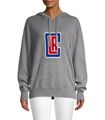 clippers cashmere hoodie